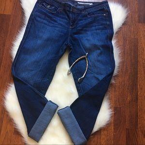 DKNY cropped boyfriend jeans